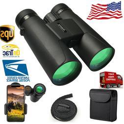 Binoculars12X42HD Waterproof Scope Travel Binoculars Hunting