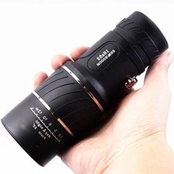 Black Single Focus 16x52 Zoom Monocular Telescope Optic Lens