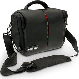 iGadgitz Medium Black Water Resistant Messenger Travel Bag C