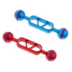 "MonkeyJack 2 Pieces Blue & Red 12.6cm/5"" Aluminum Alloy Dual"