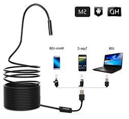 BestoU Borescope, 3 in 1 Endoscope support Type-C phones, Se