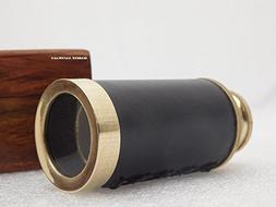 "Marine Nauticals 6"" Brass Handmade Telescope leather mounded"