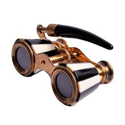 Brass Vintage Opera Glasses 5x Theatre Binoculars Pocket Bin