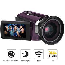 Digital Camera Camcorders, LAKASARA 4K Ultra HD Video Camera