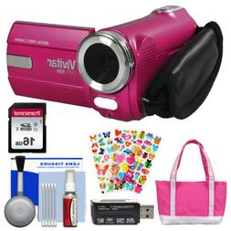 Vivitar 8.1 MP Digital Camcorder - Pink