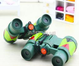 Camouflage Green Plastic 10x 30mm Binocular Toy Fun Boy for