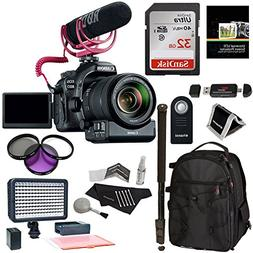 Canon EOS 80D Video Creator Kit with EF-S 18-135mm is USM Le