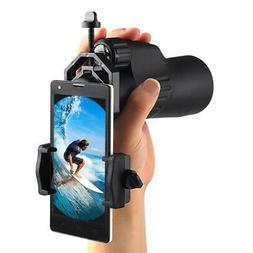 Cell Phone Camera Adapter Telescope Binocular Holder Spottin