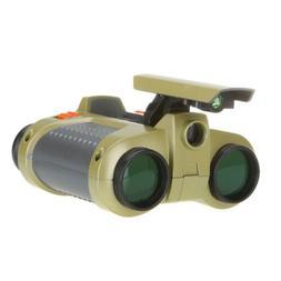 Child Binocular Telescope Pop-up Light Night Vision Scope Bi