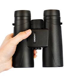 Classic 10x42 Binoculars for Adults Compact, BaK-4 Prism Ful