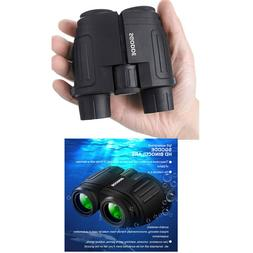 Compact Binoculars 10x25 with Low Light Night Vision Large E