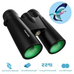 12x42 Roof Prism Binoculars for Adults - Professional HD Bin