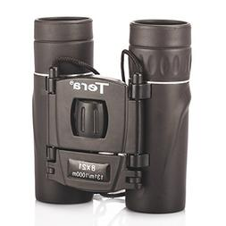 Tera Compact Folding 8x21 High Power Binoculars Telescope 8