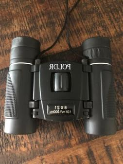 POLDR 8x21 Small Compact Lightweight Binoculars for Adults K