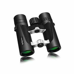 Small Compact Lightweight Binoculars for Travel, Powerful Po