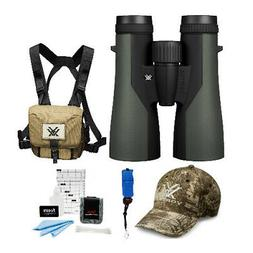 Vortex 10x50 Crossfire Binoculars + Glasspak Harness Kit