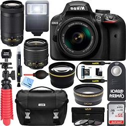 Nikon D3400 DSLR Camera w/ AF-P DX 18-55mm & 70-300mm Zoom L