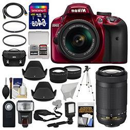 Nikon D3400 Digital SLR Camera & 18-55mm VR  & 70-300mm DX A