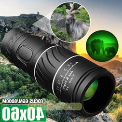 Day Night 40X60 HD Hunting Binoculars Powerful BAK-4 Hiking