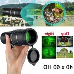 Day Night Vision 40X60 HD Hunting Binoculars Optical Telesco