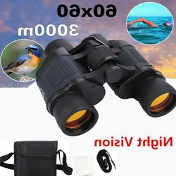 Day/Night Vision 60X60 Zoom Outdoor HD Binoculars Hunting Te