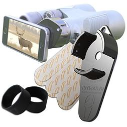 Small Digiscoping Adapter, Any Smartphone to Most Binoculars