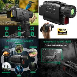 Digital Night Vision Monocular Scope LCD Records Images Vide