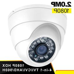 Dome Security Camera Anpvees Hybrid HD 1080P 4 in 1 TVI/CVI/
