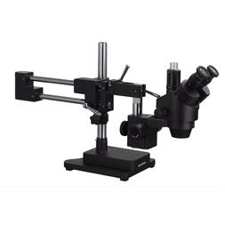 AmScope 3.5X-180X Trinocular Stereo Zoom Microscope with Bla