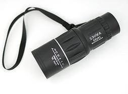 AWOEZ 16x52 Dual Focus Outdoor Monocular Telescope Optics Zo