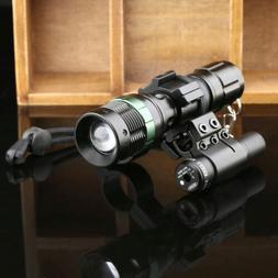 Durable Red Dot Laser Sight Scope Mount Adjustable Zoom LED