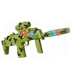 Electric Military Gun Sniper Rifle Action Toy LED Space Flas