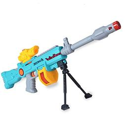 Electric Space Submachine Gun Sniper Rifle Action Toy LED Fl
