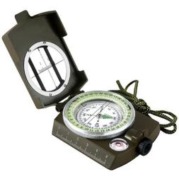 eyeskey military compass waterproof lensatic sighting tritiu