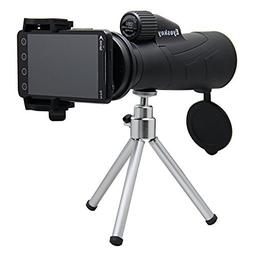 Monocular Telescope, 12x50 Monocular with Cellphone Adapter,