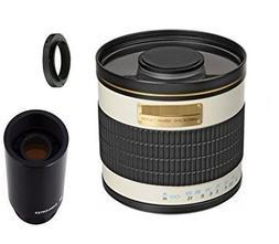 500mm f/6.3 Manual Focus Telephoto Mirror Lens + 2x Teleconv