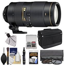 Nikon 80-400mm f/4.5-5.6G VR AF-S ED Nikkor-Zoom Lens + Shou