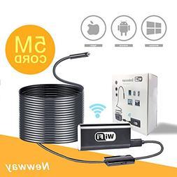 5M Flexible Wifi Inspection Camera Endoscope,Waterproof Semi