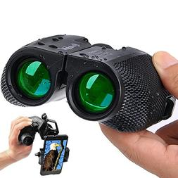 Binoculars for Adults Compact - 10×25 High Powered Lightwei