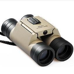 GMJF 10x25 Folding Binoculars Telescope with Low Light Night