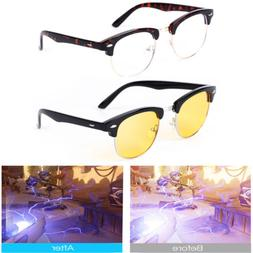 30f48e0822 Gaming Glasses Blue Light Blocking Retro Computer Phone Eyew