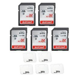 5x Genuine SanDisk Ultra 16GB Class 10 SDHC Flash Memory Car