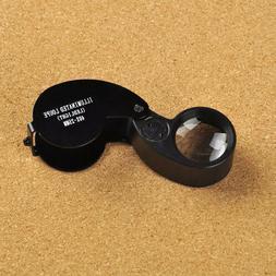 Glasses Loupe 10X 15X 20X 25X LED Double Eye Jeweler Watch R