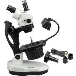 AmScope 3.5X-90X Advanced Jewel Gem Stereo Zoom Microscope +