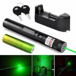 Green Laser Pointer High Power Visible Beam + Star Cap + 186