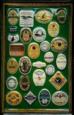 Guinness Labels Motif 1 nostalgic 3D embossed & domed strong