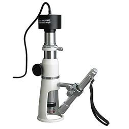 AmScope H250-P Digital Handheld Stand Measuring Microscope,
