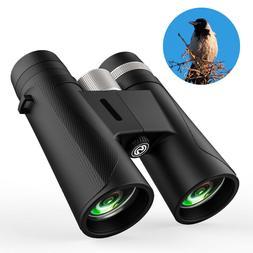 HD 12x42 Powered Binoculars for Adult Compact Bird Watching