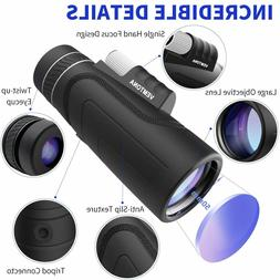 High Power 10X42 HD Monocular Optics Telescope Outdoor Trave
