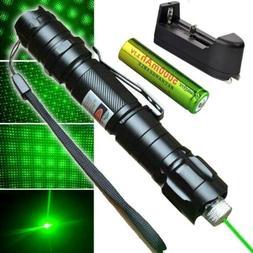 High Power Green Laser Pointer Military Beam Lazer Pen + Sta